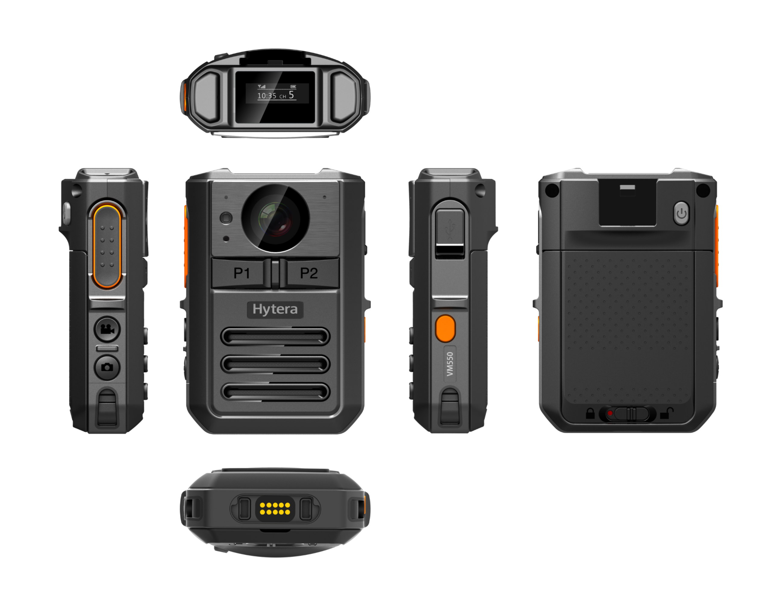 Hytera Body Worn Camera All Angles