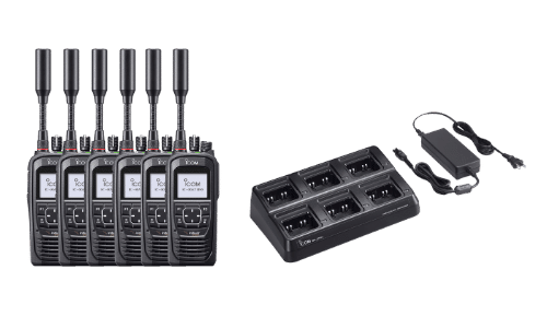 Icom IC-SAT100 And Multi Charger (1)