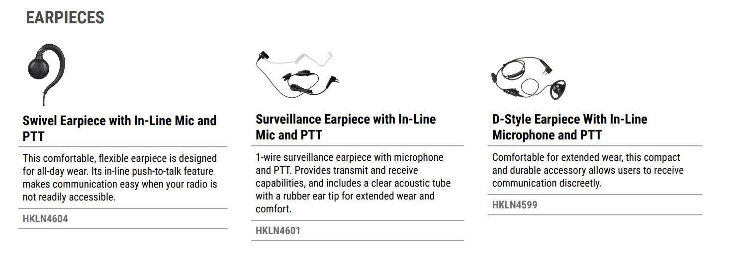 Motorola CLR Earpieces